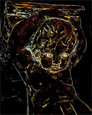 Troubled Child Man Ray Homage Art Print by Brian King