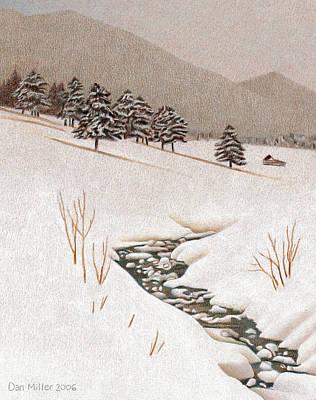 Troublesome Creek Art Print by Dan Miller