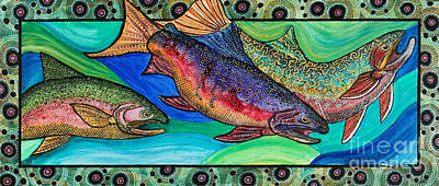Trout Painting - Trout Alive by Melissa Cole