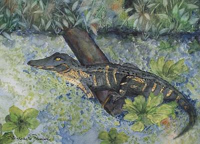 Painting - Trout Creek Gator by Patricia Beebe