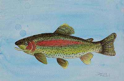 Painting - Trout by Darice Machel McGuire