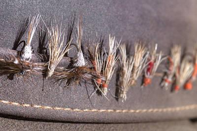 Trout Flies - My Father's Hat Art Print by Rob Greebon