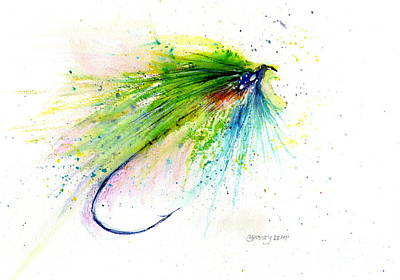 Painting - Trout Fly by Christy Lemp