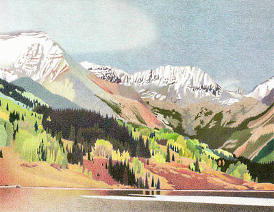 Snow Storm Drawing - Trout Lake Colorado by Dan Miller