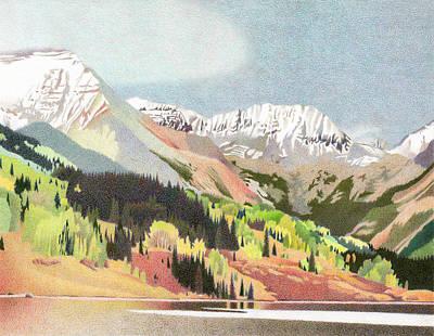 Trout Lake Colorado Art Print by Dan Miller