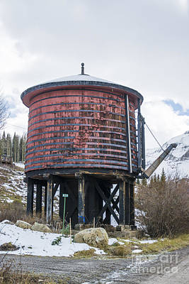Photograph - Trout Lake Water Tank by Tim Mulina