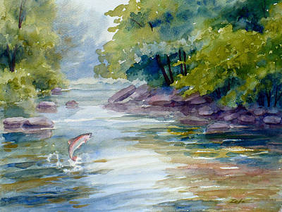 Painting - Trout Stream by Janet Zeh