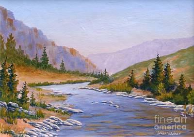 Painting - Trout Stream by Jerry Walker