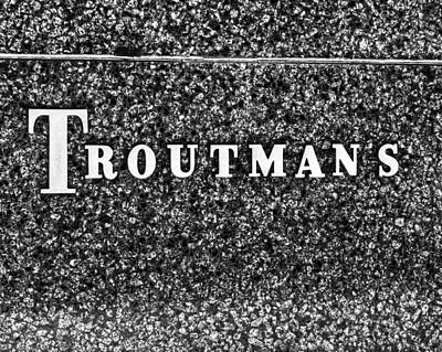 Photograph - Troutman's Sign by Coby Cooper