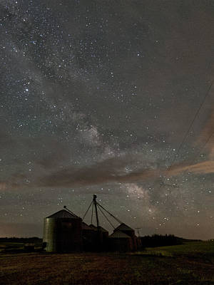 Contour Farming Photograph - Troy Milky Way by Latah Trail Foundation