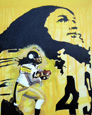 Painting - Troy Polamalu by Ottoniel Lima