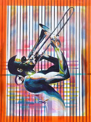 Troy Trombone Shorty Andrews Art Print
