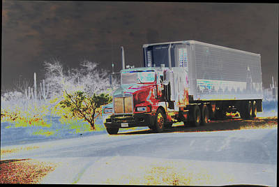 Truck Art Print by Astrid Lenz