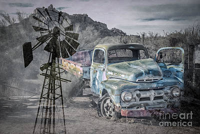 Photograph - Truck At Greasewood Flat by Marianne Jensen