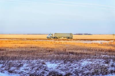 Saskatchewan Photograph - Truck At The Field by Viktor Birkus