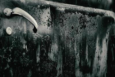 Photograph - Truck Door Abstract by Nadalyn Larsen