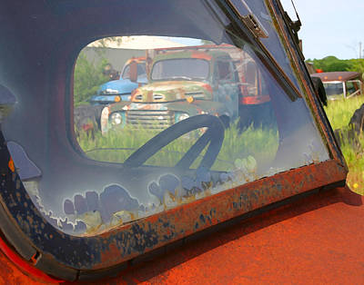 Art Print featuring the photograph Truck Glass by Christopher McKenzie