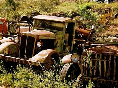 Photograph - Truck Graveyard In Arizona by Kate Purdy