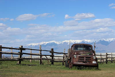 Truck In The Grass Art Print by Sharon Jones