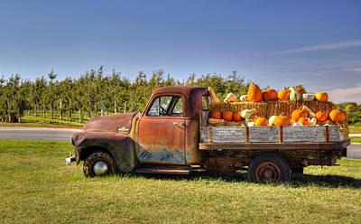 Photograph - Truck Load Of Pumpkins by Deb Buchanan
