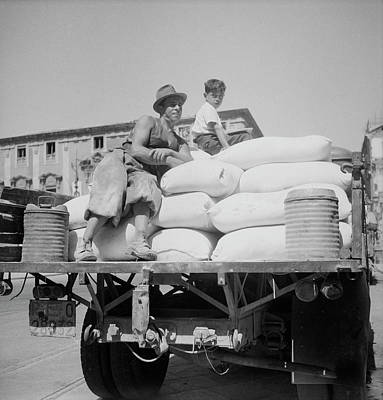 Truck Loaded With American White Flour Art Print by Stocktrek Images