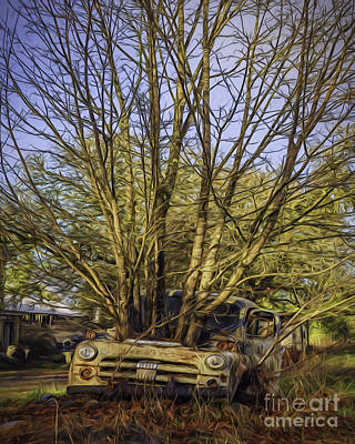 Photograph - Truck N Tree by Jean OKeeffe Macro Abundance Art