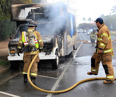 Photograph - Truck On Fire by John Orsbun