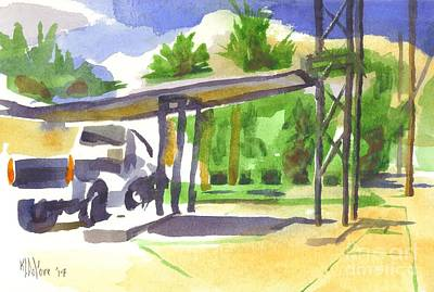 Service Station Painting - Truck Stop by Kip DeVore