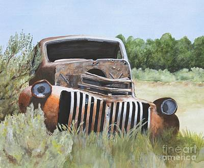 Truck Stop Art Print by Shirley Miller