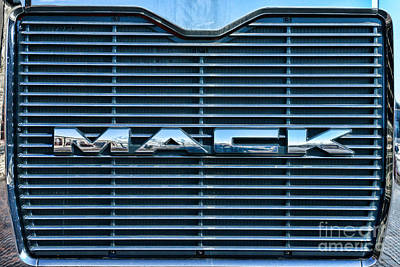 Chrome Grill Photograph - Truck - The Mack Grill by Paul Ward