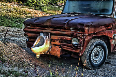 Art Print featuring the photograph Truck With Benefits by Ron Roberts
