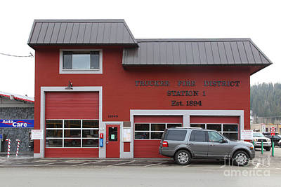 Photograph - Truckee Fire District Station 1 Truckee California 5d27452 by Wingsdomain Art and Photography