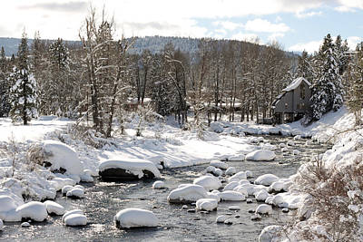 Photograph - Truckee River At Christmas by Denice Breaux