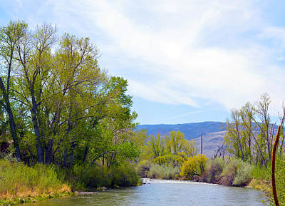Photograph - Truckee River Bends  by Brent Dolliver