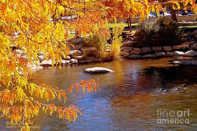 Photograph - Truckee River Framed In Fall by Bobbee Rickard