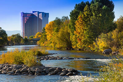 Truckee River From Sparks Art Print by Janis Knight