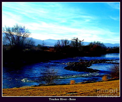 Art Print featuring the photograph Truckee River In Motion by Bobbee Rickard