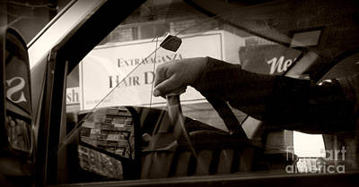 Photograph - Trucker At The Wheel by Miriam Danar
