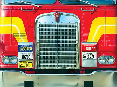 Trucking Art Print by Brian James
