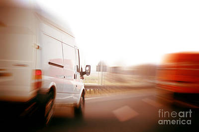 Trucks Art Print by Michal Bednarek