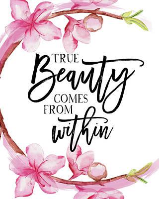 True Beauty Art Print by Amy Cummings