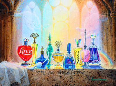 Perfume Bottles Painting - True Beauty by Graham Braddock