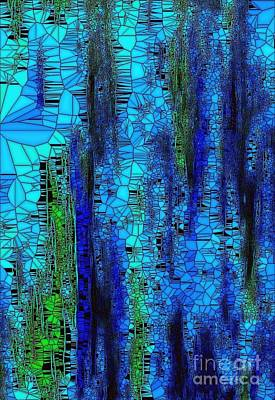Painting - True Blue 1 by Saundra Myles