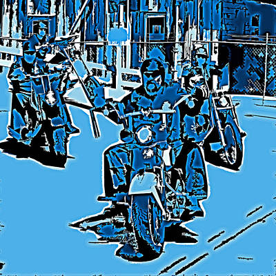 Photograph - True Blue Bikers by Joseph Coulombe