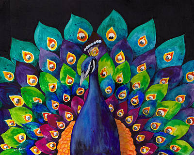 Peacocks Painting - True Colors by Susy Soulies