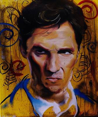 Painting - True Detective Matthew Mcconaughey by Matt Burke