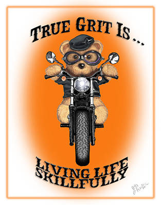 Drawing - True Grit by Jerry Ruffin