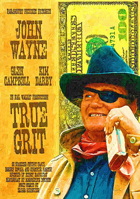 Photograph - True Grit Poster Oil by Robert Rhoads