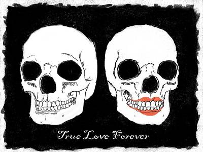 Painting - True Love Forever by RG McMahon