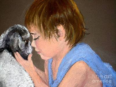 Art Print featuring the painting True Love by Mary Lynne Powers